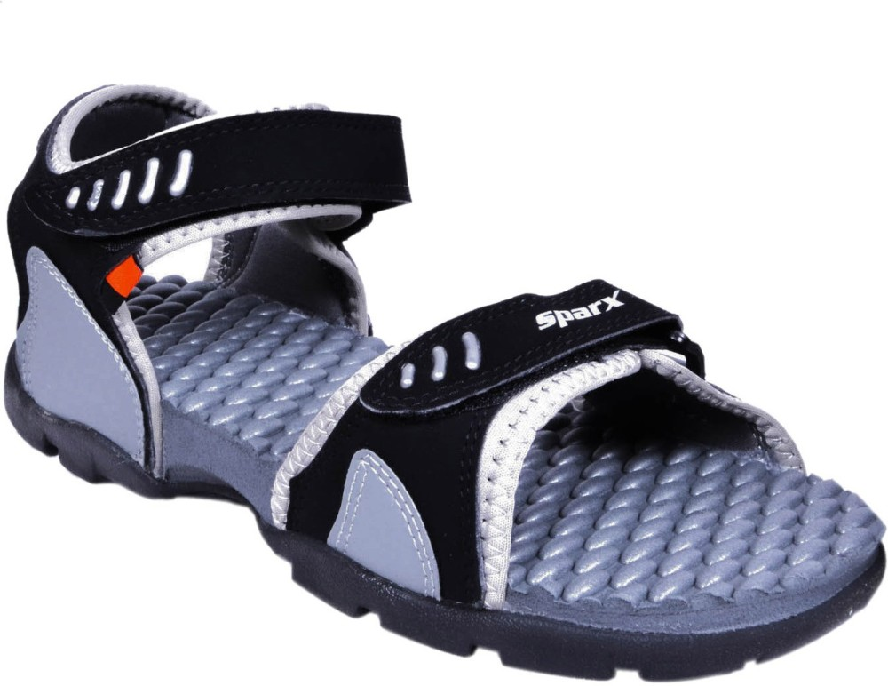 Sparx Men Black Grey Sandals Black Grey SNDEBMN5C3YEWBNX