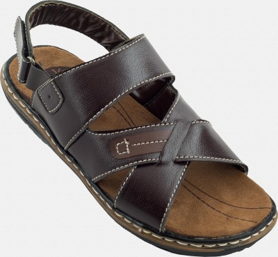 Zovi Dark Brown Sandal with Back Side Velcro Sandals