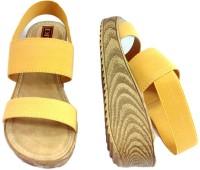 Diva Pu Sole Medium Platform Women Yellow Wedges Yellow