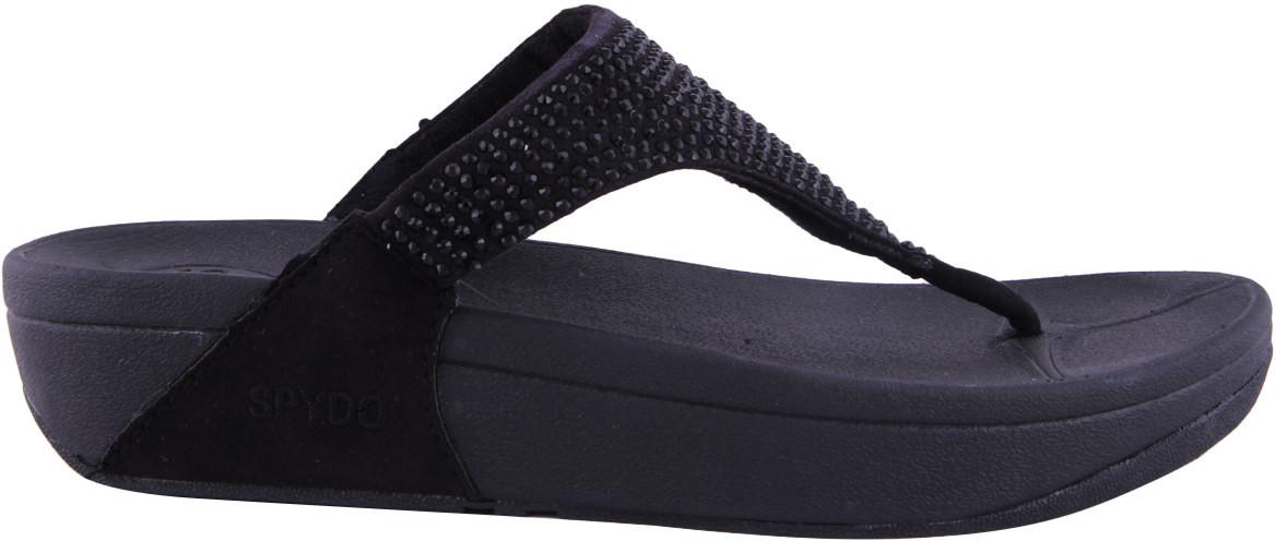 Photo of Spydo Spydo Black Sandals Women Flats Black - Flipkart