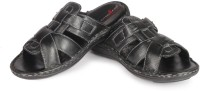 Leather King London Black Leather Sandals