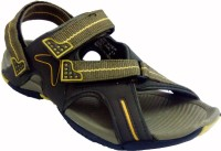 Rockstep Men's Floater Sandals Mehendi Yellow PS011 Men Yellow Sandals Yellow