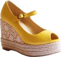 Kanabis Women Yellow Wedges Yellow
