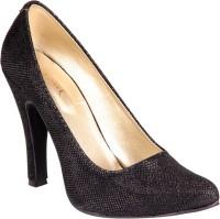 Soft & Sleek Black Crystallic Heels
