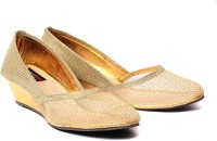 Ruby Elegant Women Gold, Gold Wedges Gold, Gold