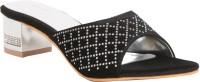 Adorn A10-2376 Black Women Black Heels Black