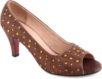 Kielz Ladies Women Brown Heels Brown