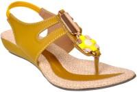 Fescon Women Yellow Wedges Yellow