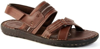 Valentino Valentino Leather Sandals (Brown)
