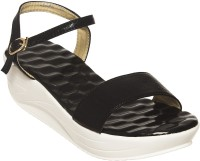 Flat N Heels Women Black Wedges Black