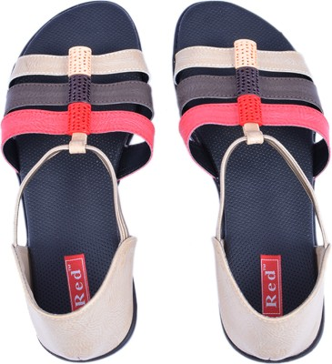 Red Red Bantus Flats (Beige\/Sand\/Tan)