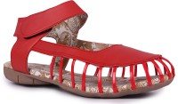 DJH Girls Red Sandals Red