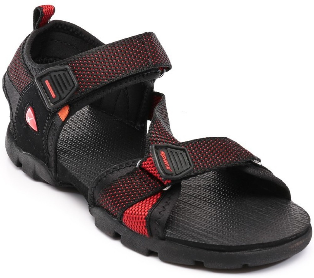 Sparx Men Black Red Sandals Black Red SNDEKCG5QCDEEUNM