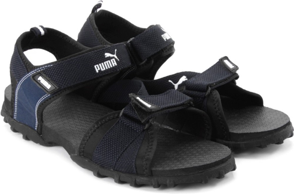 Puma Rio Men Black Blue Sports Sandals Black Blue