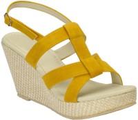 Stepee Women Yellow Wedges Yellow