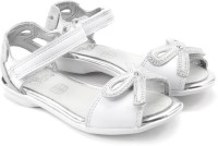 Clarks Orra Dream Inf White Leather Girls White Flats White