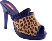 Kielz Ladies Women Blue Heels Blue