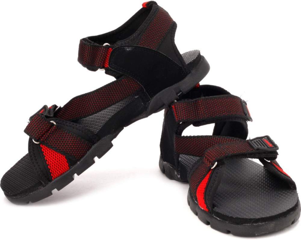 Sparx Men Black, Red Sandals Bla...