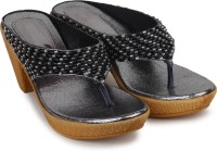 Do Bhai Women Black Heels Black