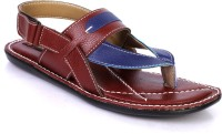 MARCBEAU Men Burgundy, Blue Sandals Burgundy, Blue