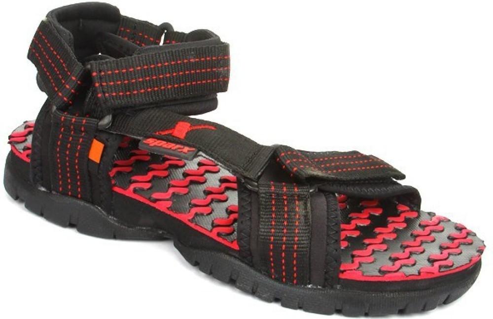 Sparx Men Black Sandals Black