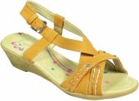 Maayas Women Yellow Wedges Yellow