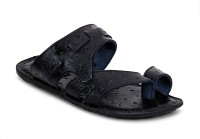 Get Glamr Men Black Sandals Black