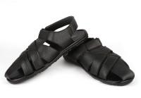 True Soles Men Black Sandals Black