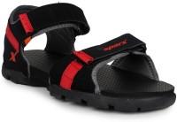 Sparx Men Black, Red Sandals Black, Red
