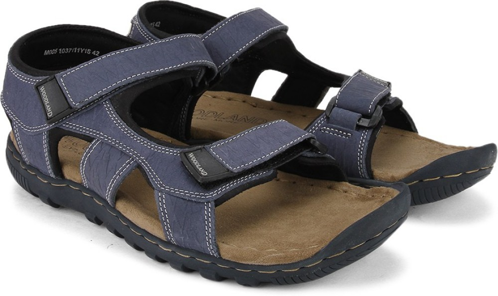 Woodland Men Blue Sandals Blue