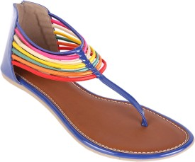 Indulgence Rush Of Colours Zipper Back Women Flats