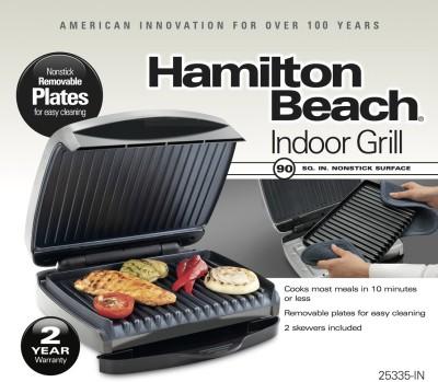 Hamilton Beach 25335 Grill (Grey)