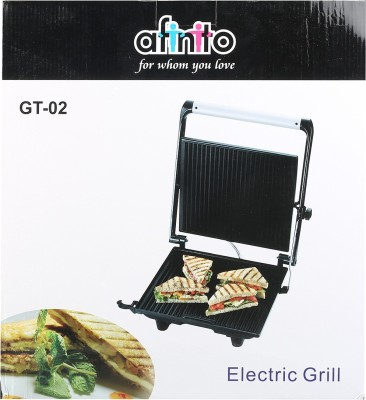 Afinito Electric Grill, Toast (Black, Silver)