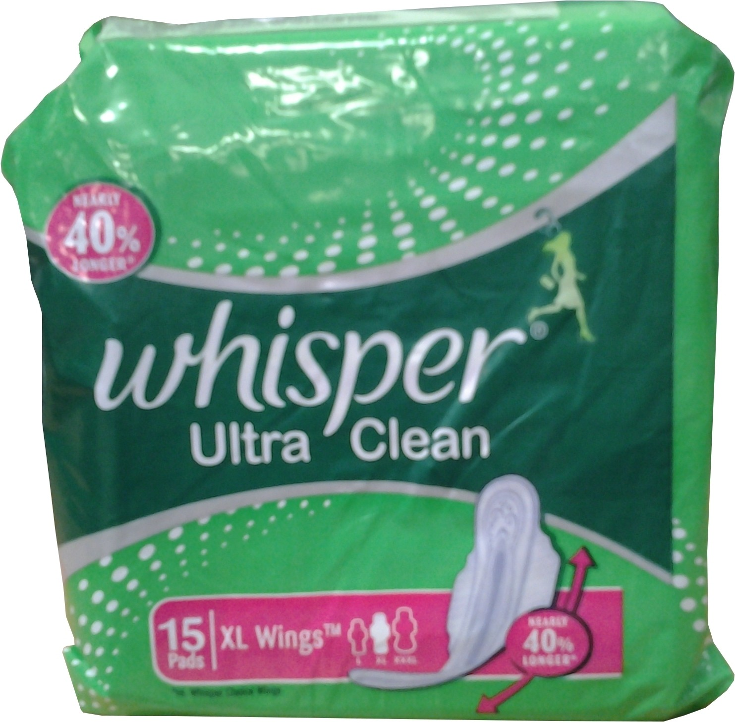 Buy Whisper Ultra Clean XL Wings Sanitary Pad Pack of 15 @ ₹ 150 by ...