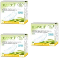 Masmi Organic Cotton Ultra Thin Wings Individually Wrapped Day Napkin Sanitary Pad (Pack Of 3)