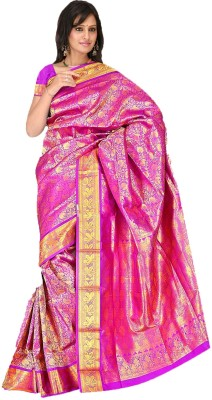 Fashion MGS Printed Fashion Silk Sari (Violet)