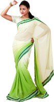 Hawai Solid Embroidered Georgette Sari