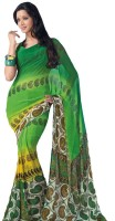 Stylelok Printed Embroidered Georgette Sari