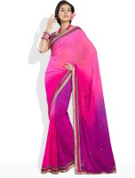 Soch Solid Synthetic Sari
