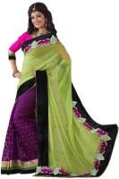 Fashionista Printed Embellished Brocade, Georgette Sari