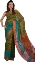 9rasa Printed Organza Sari