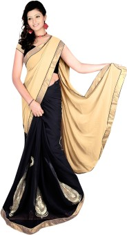 Prabhat Silk Mills Self Design Bollywood Chiffon Sari