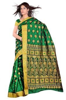 Varkala Silk Sarees Printed Kanjivaram Art Silk, Jacquard, Brocade Sari