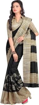 Shree Vaishnavi Printed, Self Design Bollywood Handloom Jute, Silk Sari