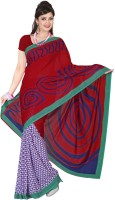 Rangmanch Geometric Print Chiffon Sari