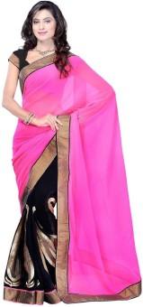 Click Sarees Embroidered Embroidered Embellished Georgette Sari