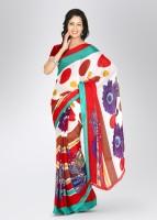 Satrang Printed Chiffon, Crepe Sari