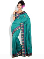 Shreejee Solid Synthetic Sari