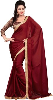 Apka Apna Fashion Plain Bollywood Chiffon Sari