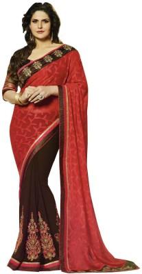 Aarti Saree Embriodered, Self Design Fashion Georgette, Brasso Sari